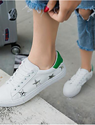 Women's Sneakers Light Soles PU Spring Summer Casual Light Soles White/Green Black/White White Flat