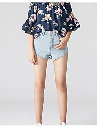 Women's High Waist Micro-elastic Shorts Pants,Simple Loose Solid