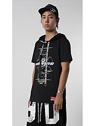 Hombre Simple Chic de Calle Punk & Gótico Calle Casual/Diario Ropa Deportiva Verano Camiseta,Escote Redondo Un Color Patrón Manga Corta