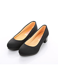Women's Loafers & Slip-Ons Formal Shoes Comfort Fabric Spring Fall Office & Career Casual Chunky Heel Black 1in-1 3/4in
