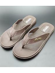 Men's Slippers & Flip-Flops Synthetic Spring Gray Khaki Flat