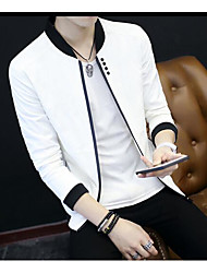 Men's Other Casual Jackets Spring/Fall Jacket,Solid Square Neck Long Sleeve Short Other