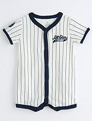 Baby Stripe One-Pieces,Cotton Summer Short Sleeve
