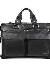 Briefcase Businessman HandBags 14 inch Laptop Travel Shoulder Bag New Cowhide Men Messenger Bag D287-4