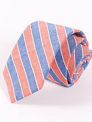 Men's Casual Fashion Personality Stripe Cotton Tie