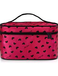 Women Cosmetic Bag PU All Seasons Baguette Zipper Blushing Pink Ruby Peachblow