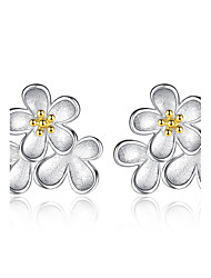 Boucles d'oreille goujon A Fleurs Argent sterling Bijoux Pour Mariage Soirée Quotidien Décontracté 1 paire