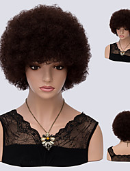 Dark Auburn Culry Sexy Fashion Natural Wig for Afro Women Hot Design High Quality Heat Resistant