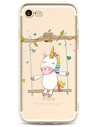 Для яблока iphone 7 7 плюс 6s 6 плюс чехол крышка мультфильм картина окрашены высокий уровень проникновения tpu материал мягкий чехол для