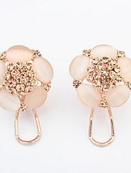 Women's Couple's Stud Earrings Hoop Earrings Imitation Diamond Basic Floral Sexy Fashion Vintage Personalized Cute Style EuramericanResin