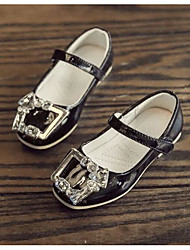 Girls' Flats First Walkers Patent Leather Leatherette Spring Fall Outdoor Casual Walking Magic Tape Low Heel Blushing Pink Gray Black Flat