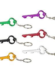 Colors Key Shape Beer Bottle Opener Keychain Aluminum Alloy Ring Kitchen Tool Bar Beer Wine Gift Random Color