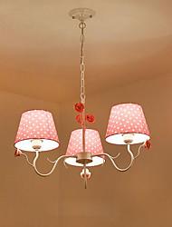 Lustre ,  Rustique Artistique Peintures Fonctionnalité for Designers Métal Chambre à coucher Chambre de fille Magasins/Cafés 3 Ampoules