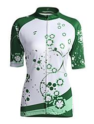 GETMOVING Maillot de Cyclisme Femme Manches Courtes Vélo Maillot Hauts/Tops Respirable Poche arrière Ecran Solaire Coolmax Classique