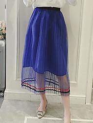 Mujer Noche Midi Faldas Verano Un Color