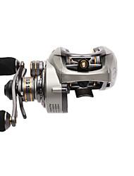 Carretes de lanzamiento 6.6:1 9 Rodamientos de bolas Zurdo Pesca de baitcasting Pesca de Cebo-CK150-L