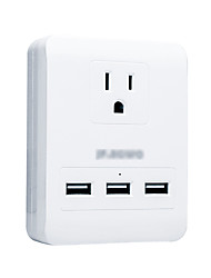 Power Strip 3 USB Ports 1 Outlets 15A 125V Smart Conversion Socket