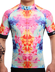 Cycling Jersey Men's Short Sleeve Bike Jersey Quick Dry Breathable Sweat-wicking Coolmax LYCRA® Classic Summer Watermelon Red