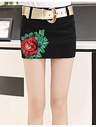 Women's Holiday Mini Skirts A Line Floral Print Summer