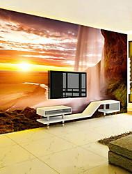 Imprimés Paysage 3D Print Fond d'écran pour la maison Contemporain Revêtement , Toile Matériel adhésif requis fond d'écran , Couvre Mur