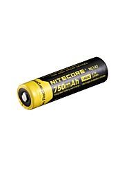 2pcs nitecore nl147 750mAh 3.7v 2.8wh 14500 литий-ионный аккумулятор