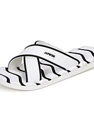 Masculino Chinelos e flip-flops PVC Verão Rasteiro Branco Rasteiro