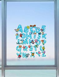 Mot Contemporain Autocollant de Fenêtre,PVC/Vinyl Matériel Décoration de fenêtre
