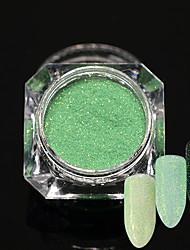 0.2g/bottle New Fashion Nail Art Green Glitter Sugar Coating Powder Beautiful Candy Color Shining Mermaid Design Sparkling Sugar Coating Decoration