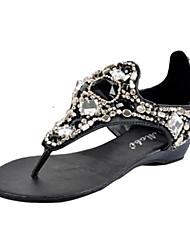 Women's Sandals Summer Slingback PU Casual Black