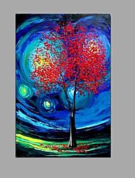 Peint à la main Paysage Panoramique Verticale,Moderne Style européen Un Panneau Toile Peinture à l'huile Hang-peint For Décoration