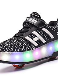 Kids Boy Girl's Roller Skate Shoes / Ultra-light One Two Wheel Skating LED Light Shoes / Athletic / Casual LED Shoes Black Pink Blue