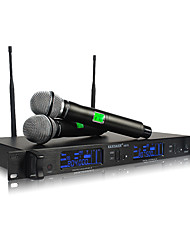 Professional double handheld wireless microphone For KTV stage meetings mic