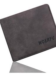 Men Fashion Suede Wallet Black Formal Card Holder Purse
