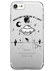 Для iphone 7 плюс 7 чехол для крышки экологически чистый прозрачный узор задняя крышка чехол мультяшное слово / фраза soft tpu для iphone