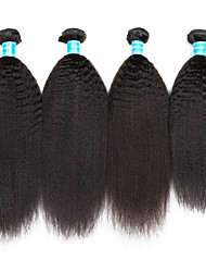 Vinsteen Indian Human Hair Extensions Kinky Straight Virgin Hair Weft 4Pcs Lot Natural Black Hair Bundles Curly Human Hair Weaves