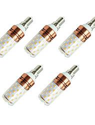 8W Bombillas LED de Mazorca T 60 SMD 2835 800 lm Blanco Cálido Blanco V 5 piezas