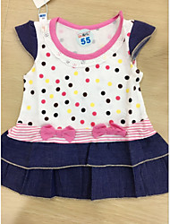 Baby Girl's Daily Indoor Dress Polka Dots Clothing Set,Dot Spring Summer