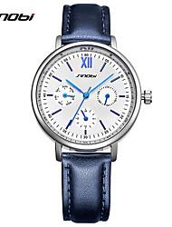 SINOBI Mulheres Relógio Elegante Relógio de Moda Único Criativo relógio Chinês Quartzo Impermeável Resistente ao Choque Couro Banda