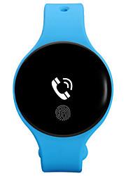 Homens Relógio de Moda Digital Borracha Banda Preta Azul
