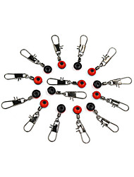 50Pcs/lot Space Beans Fishing Connector Float Connector Rolling Swivel Fishing accessories Fishing Tackle Tool