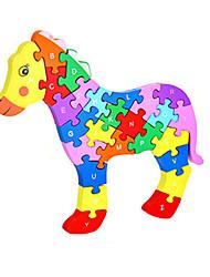 Jigsaw Puzzles DIY KIT Building Blocks DIY Toys Horse Wooden