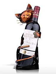 Cat Shaped Wine Holder Wine shelf Metal Figurine Practical Figurine Rack For Wine Bottle Office Home Decor wine rack