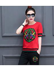 T-shirt Pantalone Completi abbigliamento Da donna Sportivo Scuola Classico Modern Estate,Altri Rotonda Manica corta Media elasticità
