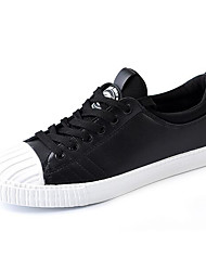 Men's Sneakers Comfort Canvas Tulle Spring Casual Screen Color Black White Flat