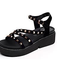 Mujer Sandalias Confort Sintético Verano Casual Confort Negro 5 - 7 cms