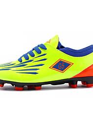 Boys' Athletic Shoes Comfort PU Spring Fall Outdoor Soccer Flat Heel Royal Blue Green Orange Black Under 1in