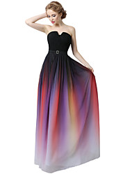 Formal Evening Dress Sheath / Column Sweetheart Floor-length Chiffon with Draping