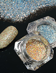 2bottles/set 0.2g/bottle Fashion DIY Shining Pigment Nail Art Platinum Glitter Power Galaxy Starry Effect Gorgeous Decoration BG09&12