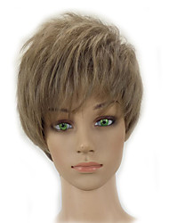 Short Curly Layered Light Ash Blonde Wig Synthetic Hair White Woman Wigs High Temperature Fiber
