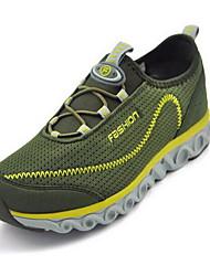 Для мужчин Кеды Удобная обувь Ткань Весна Лето Повседневные Для прогулок Удобная обувь На эластичной ленте На плоской подошвеСерый